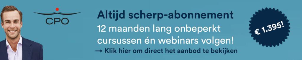 Banner Altijd Scherp-abonnement CPO